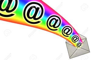 13285544-3D-E-Mail-Signs-in-Rainbow-from-Envelope-Stock-Photo